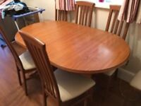 Dinning Table ,Chairs And Dresser