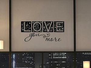 love you more vinyl wall sticker home decal decor art. Black Bedroom Furniture Sets. Home Design Ideas