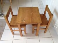Kids Children's Wooden table and Chairs