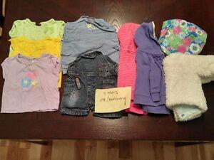 vêtements filles 0-3 mois, chaussures grandeurs 1-2 et 3 Québec City Québec image 5