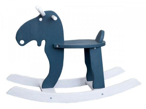 Nursery Wooden Rocker, Moose Rocking Chair 18x31.5 inch,Handmade In Ukraine BLUE