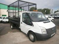 Ford Transit T350 Single Cab Tipper 100ps Cage DIESEL MANUAL WHITE (2013)