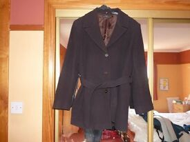 Wool and Cashmere blend belted coat