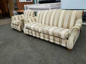 Parker knoll two seater sofa with matching armchair