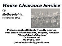 METHUSELAH'S HOUSE CLEARANCE SERVICE - ESTABLISHED 1991- PROFESSIONAL, FRIENDLY BUSINESS