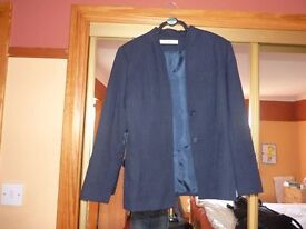Country Casuals Navy Jacket and F&F navy pinstripe skirt