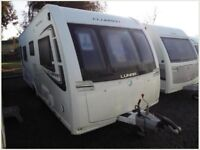 2012 LUNAR CLUBMAN SB 4 BERTH FIXED SINGLE BEDS MOTOR MOVER ATC AWNING SUPERB