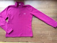 Original North Face Pink Fleece Small (8-10) - suitable for women or girls