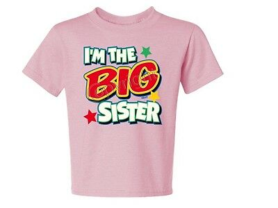 I'M The Big Sister With Green KIDS T-Shirt JERZEES  6 Months To 18-20 The