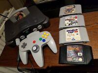 Nintendo 64 Console With Games & Controller Retro Goldeneye Turok