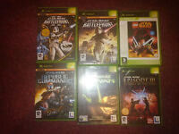 11 Star Wars games for original Xbox and PS2. Retro!