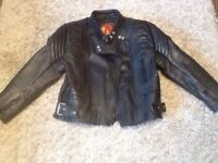 Ladies Leather Motorcycle Jacket Excellent Condition