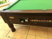 Slate Pub Pool Table with Cues and Balls