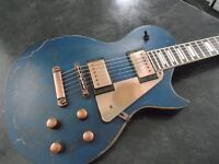 Axl Badwater Guitar (Les Paul copy) Blue Crackle Finish