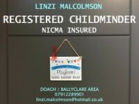 Registered and NICMA insured CHILDMINDER / Childcare Provider