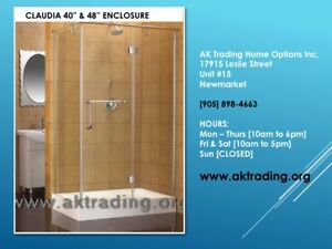 QUALITY SHOWER STALLS W/BASES-LARGE, MEDIUM, SMALL SIZES!!!