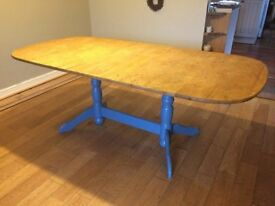 Beautiful rustic wooden dining table