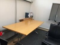 Boardroom Table & 4 Leather Chairs - Excellent Condition
