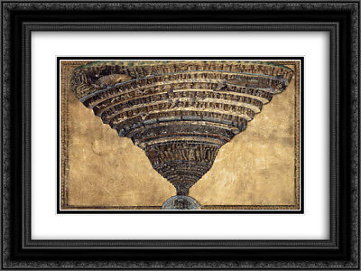 Sandro Botticelli 2x Matted 24x20 Framed Art Print 'The Abyss of Hell'