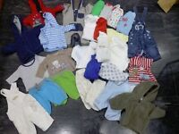 Baby Boy's Clothing Bundle Up to 1 month