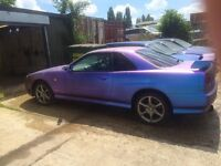 Nissan Skyline R34 GT-T Semi Auto Price £6500 no offers or swaps.
