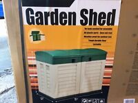 Plastic garden shed bin shed garden storage brand new limited number available