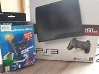 PS3 SLIM WITH GAMES! MINT!