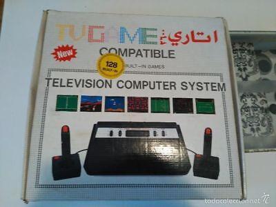 CONSOLA TV GAME COMPATIBLE ATARI 2600 128 BUILT IN NEW NUEVA A...