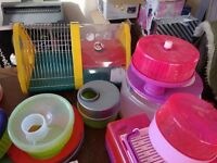 Large lot of rotastac hamster cages/tubes etc green cage bit no longer available