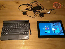 Lenovo Thinkpad Tablet 10 with stylus, keyboard and case.