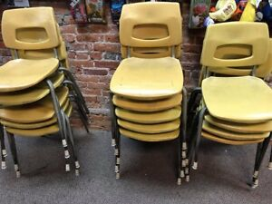 Chairs - stackable Classroom Chairs Metal Frame
