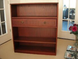 Nathan bookcase in mahogany with drawer