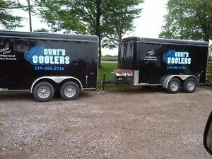Cooler/Electric Refrigerated Trailer Rentals w/ Draft Option London Ontario image 1