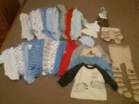 BUNDLE OF BABY BOY CLOTHES 0-3M