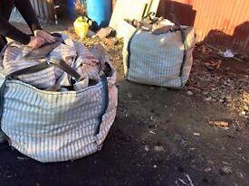 log bags vented bulk bags, garden rubbish leaves firewood storage