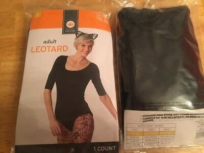 ADULT BLACK LEOTARD NEW COSTUME DANCE HALLOWEEN CAT SMALL 4 6 WOMEN JUNIOR
