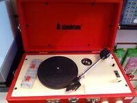 stepletone record player built in speaker