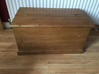 Antique Pine blanket box / Coffee table
