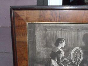 Large ANTIQUE 1910 framed print great for lodge or cabin