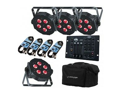 AMERICAN DJ MEGA TRIPAR PROFILE PLUS PACKAGE UPLIGHTER KIT INC CASE & CONTROLLER American Dj Dj Equipment Case