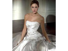 Pronovias Nicole Oyster wedding dress - size UK10