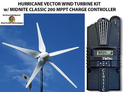 Hurricane Vector 110v Wind Turbine Kit W Midnite Classic 200 Charge Controller