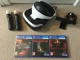 Playstation 4 PS4 Virtual Reality bundle