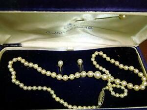 Birks Cultured Pearls & Matching Earrings