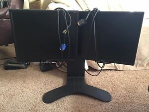 "ACER 19"" dual monitors with ergonomic stand"