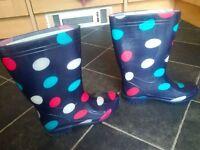 Mountain Warehouse colourful polka dot wellies