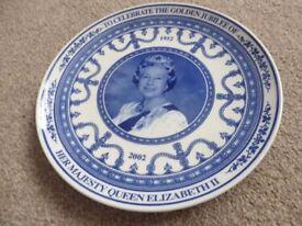 Wedgewood Queen Golden Jubilee Plate