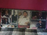 Scarface canvas and a 3d scarface picture