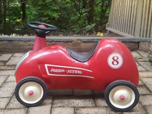 Vintage Radio Flyer Little Red Roadster Ride-on Race Car #8