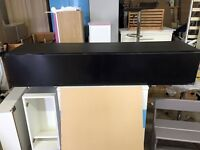Rocco Floating Gloss TV Cabinet In black